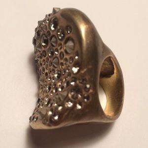 Authentic Alexis Bittar, vintage sculptural ring